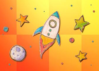 Fototapeta Space exploration theme obraz