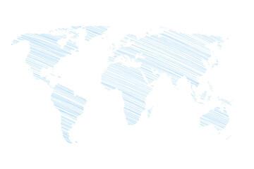 Ziemia - szkic odręczny na białym tle