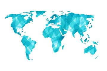 Fototapeta Mapa ziemi malowana ręcznie akwarelami na białym tle obraz