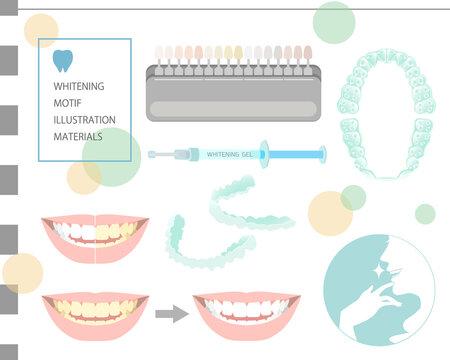 歯科ホワイトニングのモチーフセット