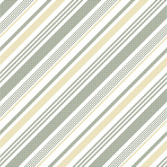 Stripe vector pattern vector with pixel texture in green, gold, white. Diagonal bayadere stripes background graphic for dress, skirt, shorts, jacket, other modern spring summer fashion fabric print.