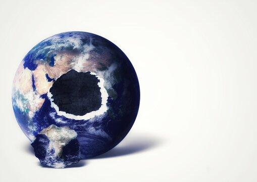 穴の空いた地球