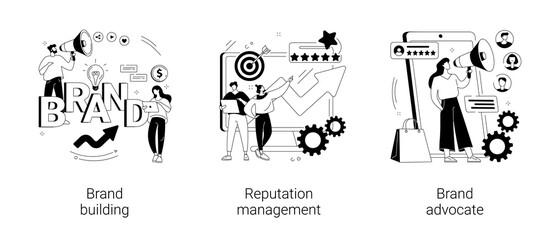 Obraz Trademark public relations abstract concept vector illustrations. - fototapety do salonu