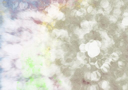 記憶とひらめき・インスピレーションの光背景イラスト・ノスタルジックレインボー