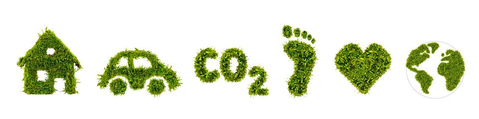 Obraz Symbole aus grünen Moos - fototapety do salonu
