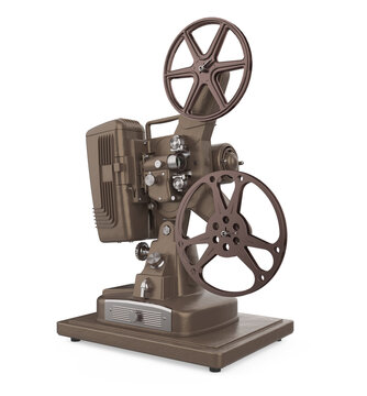 Old Cinema Projector Isolated