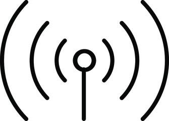 Obraz Signal tower, wifi, wireless antenna icon vector illustration transparent background. - fototapety do salonu