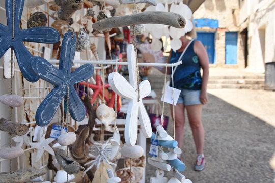 souvenir commerce mer etoile tourisme touriste bleu