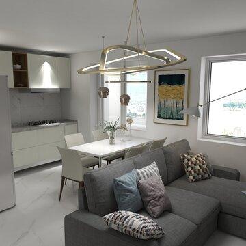 Interior design modern minimal cozy home solution