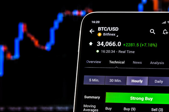 Editorial photo on Bitcoin (BTC) theme.  Illustrative photo for news about Bitcoin (BTC) - a cryptocurrency