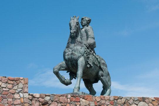 Equestrian Monument to Empress Elizabeth Petrovna in Baltiysk City, Russia