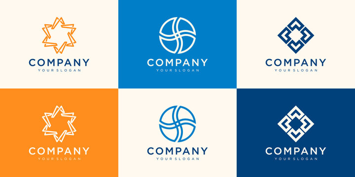 Collection Logos Your Business Association Alliance Unity Team Work