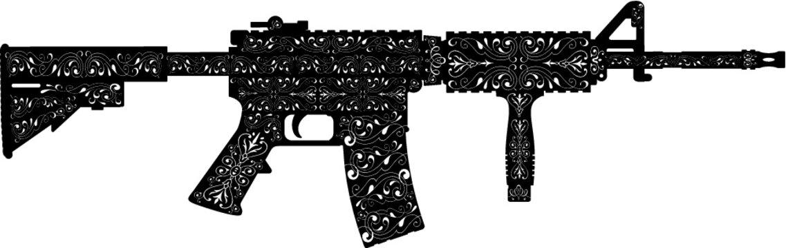 military assault rifle