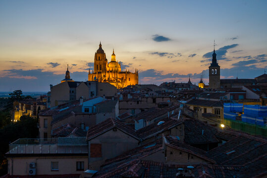 Views of Segovia from the heights