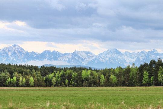 The Tatra mountain range in Poland.