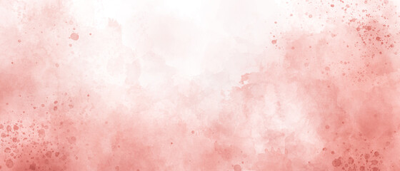Fototapeta  red pink watercolor gradient background painting with clouds texture obraz