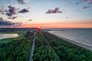 Fototapeta Hel Peninsula, Poland. 35-km-long sandbar peninsula in northern Poland. obraz