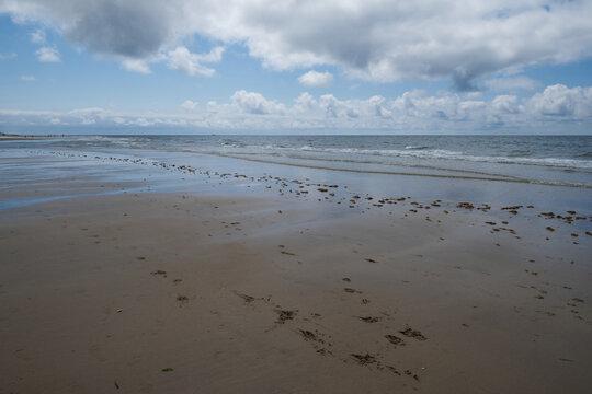 Strand bei Ebbe in Rantum auf Sylt.