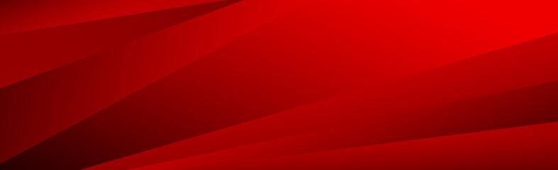 Obraz Volumetric straight lines on a red background - Vector background - fototapety do salonu
