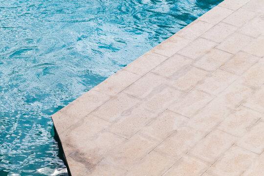 Swimming pool corner, minimal architecture background