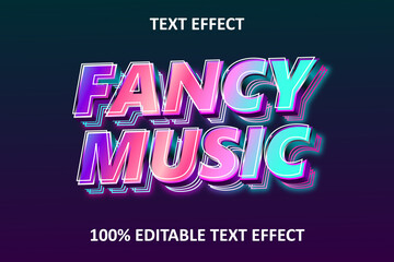 Fototapeta Fancy Music Editable Text Effect Rainbow obraz