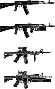 military automatic assault rifle