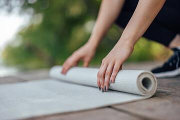 Fototapeta Picture of a quality yoga mat. obraz