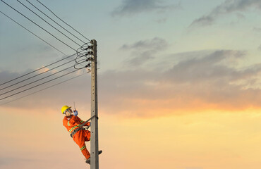 electricians work with high voltage electricity.
