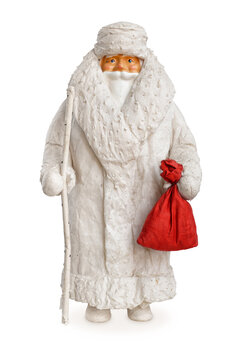 Very old traditional Christmas decoration figurine, Ded Moroz, or Jack Frost, or Santa Claus