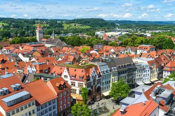 Fototapeta Panorama of Ravensburg, Baden-Wurttemberg, Germany, Europe obraz