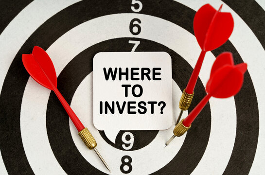 There is a sign on the target that says - WHERE TO INVEST