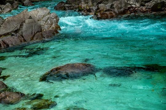 Slowenien 2021 Sommer Wildwasser Fluss  (2) Bovec