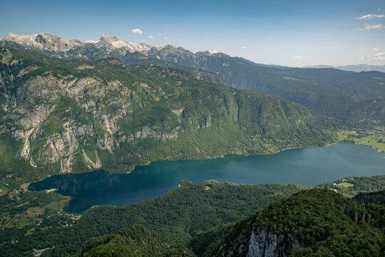 Slowenien See Berge Alpen Panorama Wandern