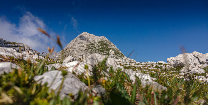Slowenien Sommer 2021 Brege Panorama blauer Himmel Wandern