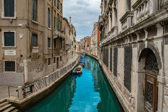 Venedig Italien Kanal Sommer 2021 Wasserspiegelung
