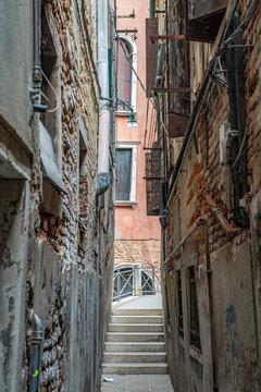 Venedig Italien  Seitengasse Sommer 2021