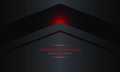 Obraz Abstract red black arrow on dark grey metallic blank space design modern futuristic technology background vector illustration. - fototapety do salonu
