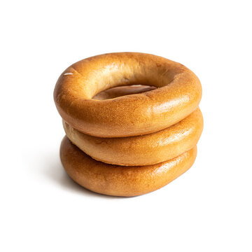 Traditional Russian bagels, isolated on a white background