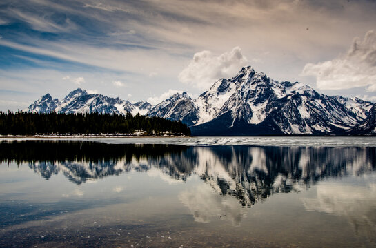 Tetons over Colter Bay