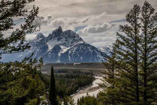 The landscape of Grand Teton National Park