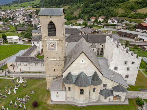 Benedictine Convent of St. John in Mustair on the Swiss alps