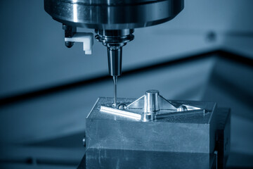 Fototapeta  The hi-precision mold and die manufacturing concept by machining center. obraz