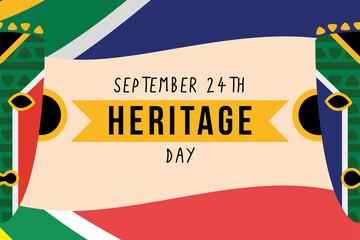 Fototapeta heritage day poster obraz