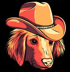 Obraz gangster dog with fedora hat vector illustration - fototapety do salonu