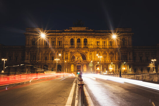 The Palace of Justice, Rome, the seat of the Supreme Court of Cassation and the Judicial Public Library, is located in the Prati district of Rome. (Corte Suprema di Cassazione)