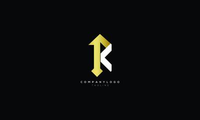 Obraz PK KP P AND K Abstract initial monogram letter alphabet logo design - fototapety do salonu