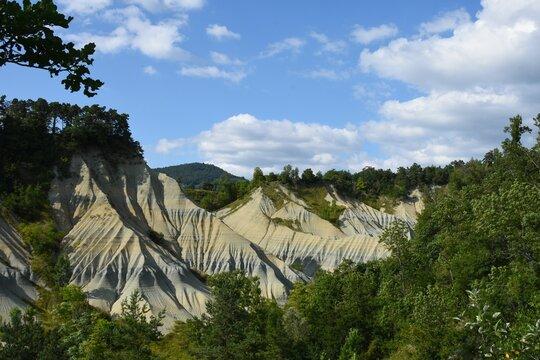Ravins de Corboeuf ou Colorado Français, site classé, Haute-Loire, Auvergne, France