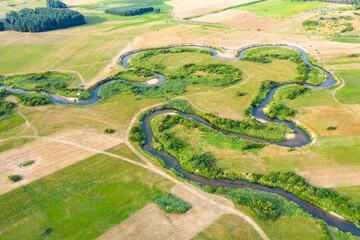 Fototapeta Meandry rzeki Liwiec obraz
