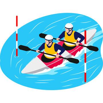 Boating team sport beautiful illustration.