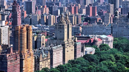 Upper West Side NY - New York City aerial view